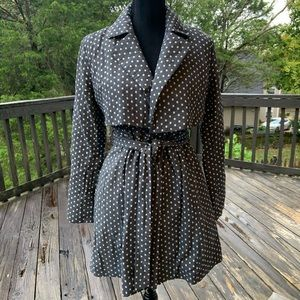 Tulle Polka Square Tie-Front Jacket